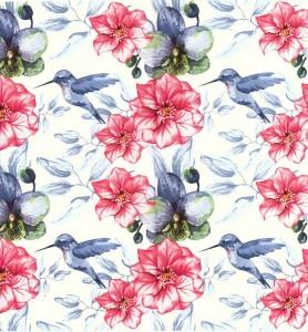 Decoupage Napkins |Hummingbird Napkins |Watercolor of Hummingbird Flower Garden | Paper Napkins for Decoupage