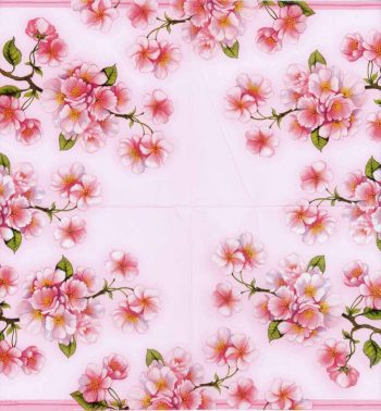 Decoupage Paper Napkins of Pink Blossoms of Spring | Paper Napkins for Decoupage
