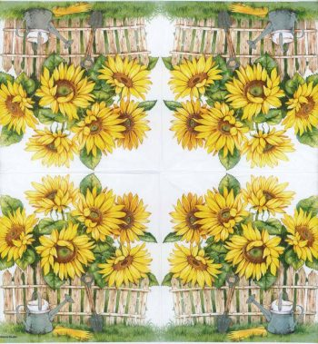 Decoupage Paper Napkins of a Sunflower Garden | Paper Napkins for Decoupage