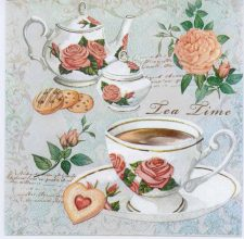 Decoupage Paper Napkins of Tea Cups and Roses | Paper Napkins for Decoupage