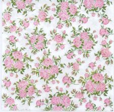 Decoupage Paper of Tiny Pink Roses Napkin   Paper Napkins for Decoupage