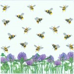 Honeybees and Clover | Bee Napkins | Clover Napkins | Paper Napkins for Decoupage