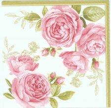 Pink Pastel Roses | Rose Napkins | Paper Napkins for Decoupage