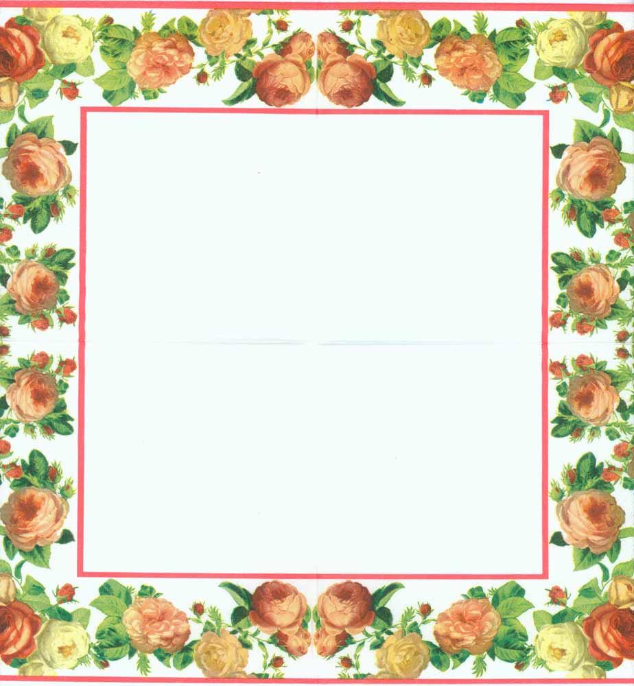 Decoupage Paper Napkins of Roses Frame