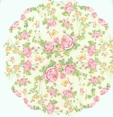 Round Napkins | Rose Napkins | Exquisite Pink Roses and a Butterfly | Paper Napkins for Decoupage