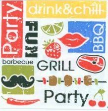 Decoupage Paper Napkins of Summer BBQ Party