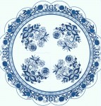 Round Napkins | Zwiebelmuster | Blue Danube | Blue Onion | Paper Napkins for Decoupage