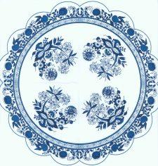 Round Napkins   Zwiebelmuster   Blue Danube   Blue Onion   Paper Napkins for Decoupage