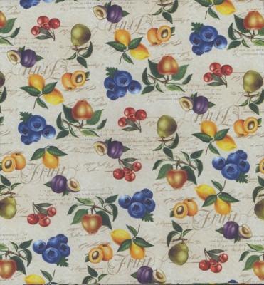 Fruit Garden Napkins|Apples Cherries Pears Lemons Apricots