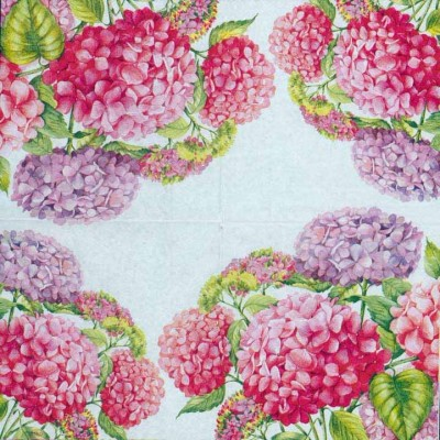 Wedding Paper Napkins Decoupage Hydrangeas Floral Napkins