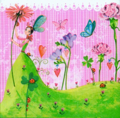 Wedding Paper Napkins Decoupage Lucky Fairies
