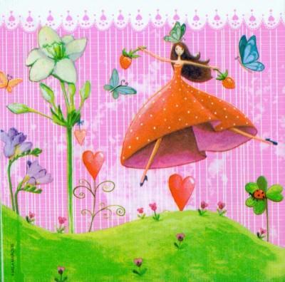 Wedding Paper Napkins Decoupage Lucky Fairies