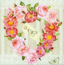 Wedding Paper Napkins Decoupage Rose Valentine Paper Napkins