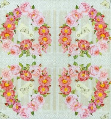 Wedding Paper Napkins Decoupage Rose Valentine Paper Napkins