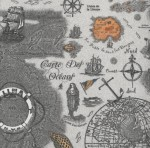 Decoupage Napkin|Sea Travel Map Napkins|Paper Napkins for Decoupage