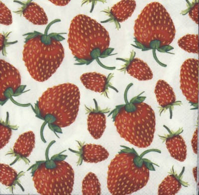 Decoupage Napkins|Strawberry Napkins|Berry Garden|Paper Napkins for Decoupage