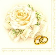 Decoupage Napkins | Wedding Napkins | Wedding Rings and Roses | Paper Napkins for Decoupage